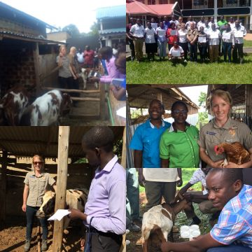 Anna trains farmers in Africa with Send a Cow