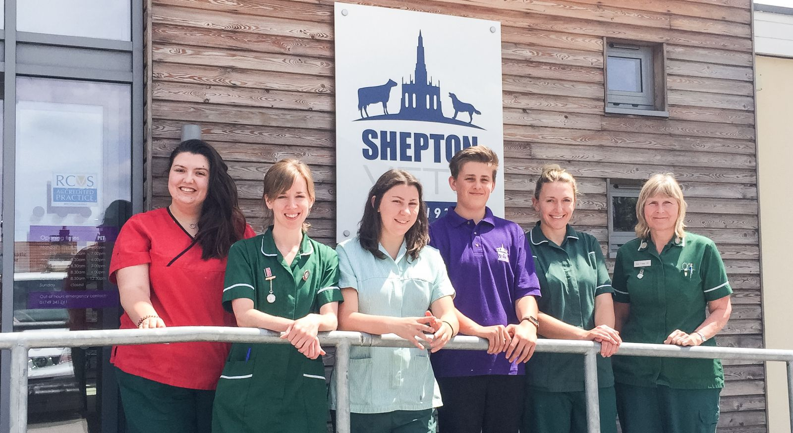 Nat, Jade, Lucy, Callum, Faye and Sue some of our nurses