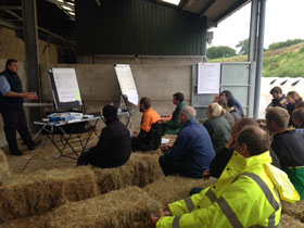 Training course held on farm