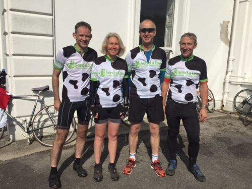 Cycling for Send a Cow